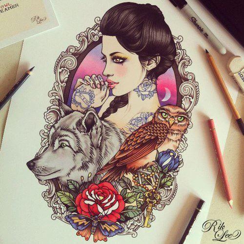 I love these tattoo designs done by Rik Lee. Australien Tattoo Scene. #tattoo #tattoos #ink
