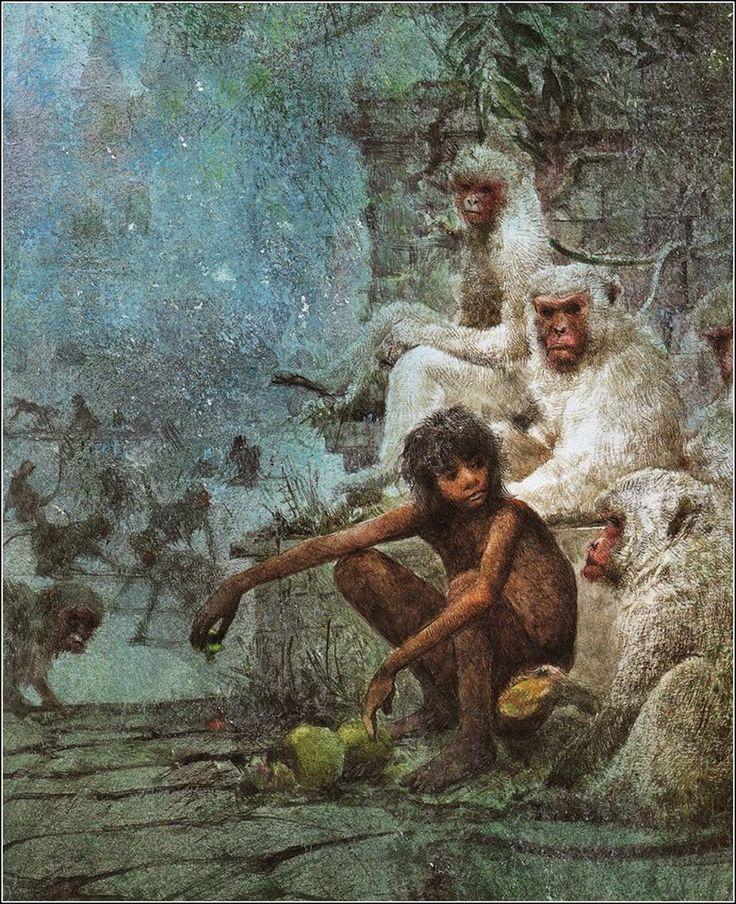 El Libro de la Selva (ilustrado por Robert Ingpen) #FigurasEnBronce #Artesanía #Morla