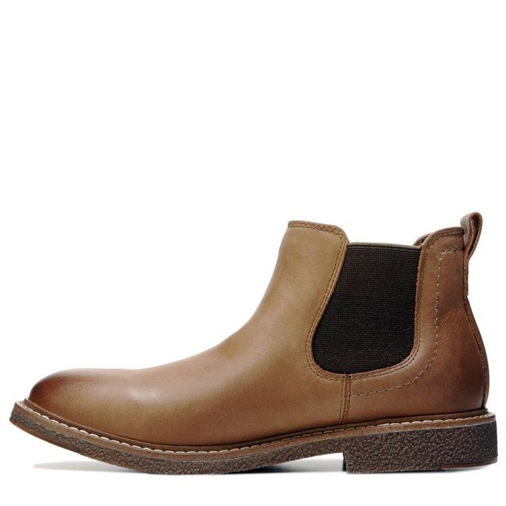 Dockers Men's Stanwell Chelsea Boots (Dark Tan Leather)
