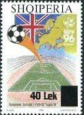 Stamp: European Football Championships 1996, overprinted (Albania) (Definitives: earlier Editions with Overprint) Mi:AL 3116,Sn:AL 2792