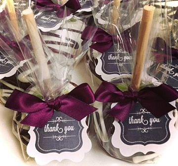 CARAMEL APPLE FAVORS (cute for a Fall wedding!)