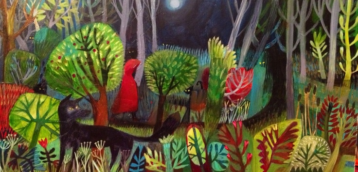 'By the light of the silvery moon' Este MacLeod painting acrylic on canvas. See este Macleod painter and applied artist fb page for images of the painting's progress. TF HRA