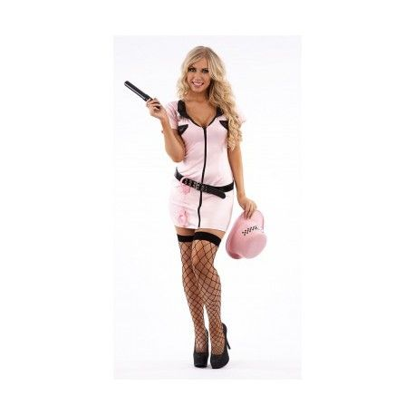 Een compleet sexy roze politieagenten kostuum. Dit sexy kostuum wordt geleverd inclusief diverse assecoires. Gekleed in dit sexy agenten kostuum kom je op elk themafeest goed voor de dag.  Het sexy agenten kostuum wordt geleverd met de volgende extra's: hoed, riem, knuppel en handboeien. Dit sexy roze politie kostuum is verkrijgbaar in de maten: S,M,L,XL