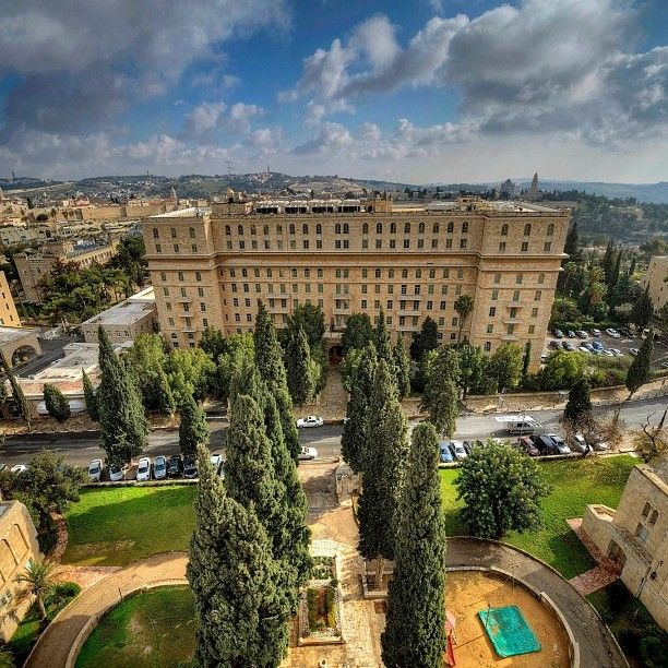 Beautiful shot of the exterior of the King David Hotel in Jerusalem #MustSee