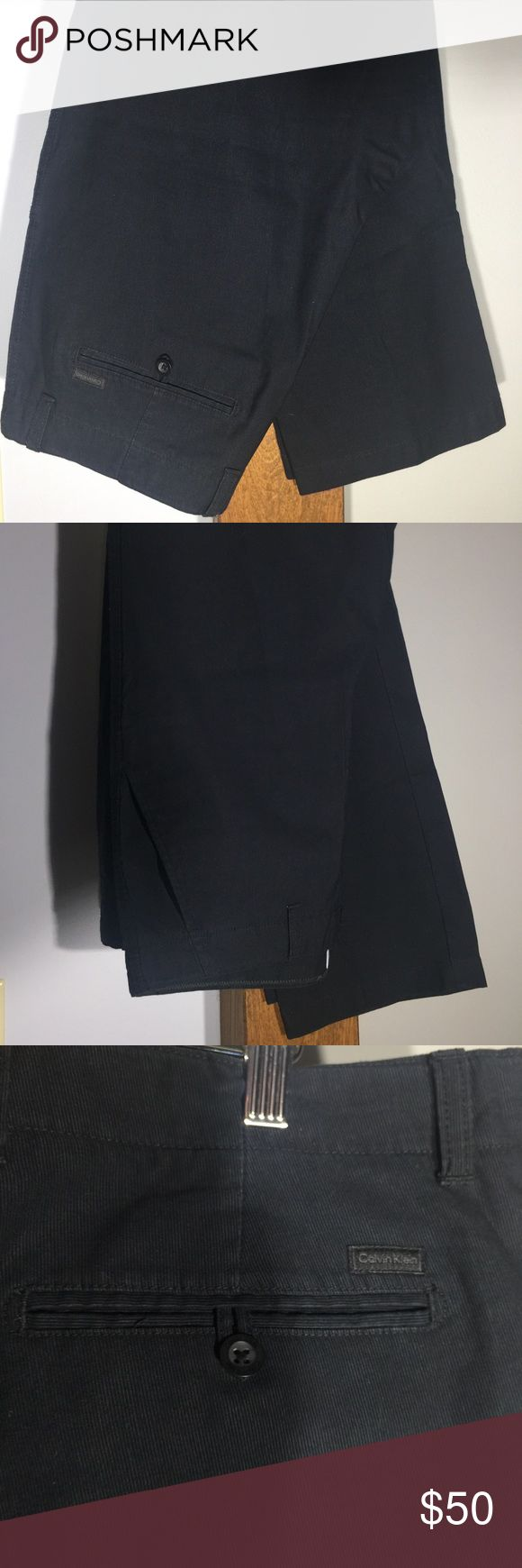 Calvin Klein Men's Corduroy Pants Black Calvin Klein men's corduroy pants. 100% cotton. Never worn. Calvin Klein Pants Corduroy