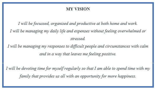 So at the end of my last blog I said that I have some goals to achieve... NEXT GOAL AND UPDATE By Friday I will identify and document what I need to do to achievemy vision. By Friday I will set my...