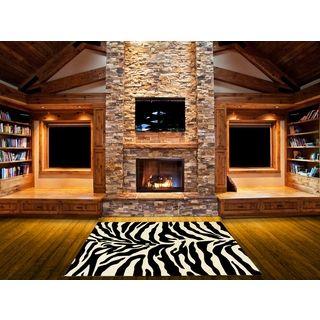 Shop for LYKE Home Hand-carved Zebra Skin Animal Print Area Rug (5' x 7'). Get…