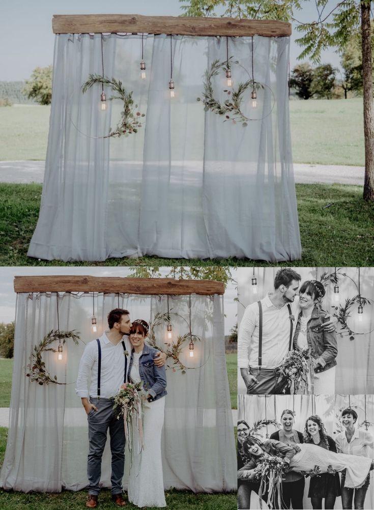 DIY Fotohintergrund für die Hochzeit