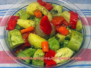 Σαλάτα με καλοκαιρινά βραστά λαχανικά - Τα φαγητά της γιαγιάς