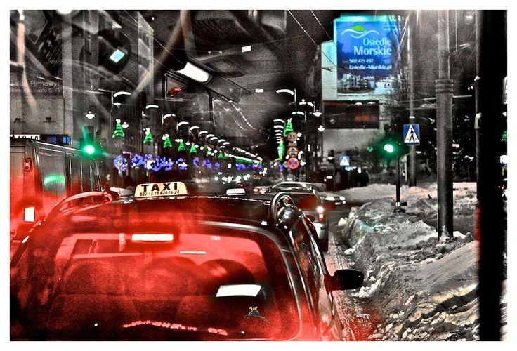 Taxi in Gdynia by Jarogniew Milewski