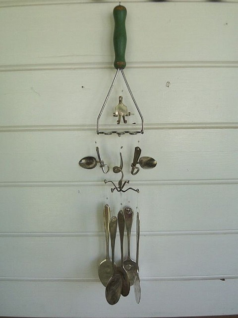 374 best other chimes and silverware crafts images on for Wind chimes out of silverware