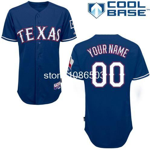 New 2014 Cheap Wholesale Mlb Men's Customize Texas Rangers Baseball Jerseys Custom Baseball Jersey Cool Base Embroidery Logos $38.98