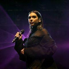 English singer Dua Lipa puts on a leggy display at Free Radio Live