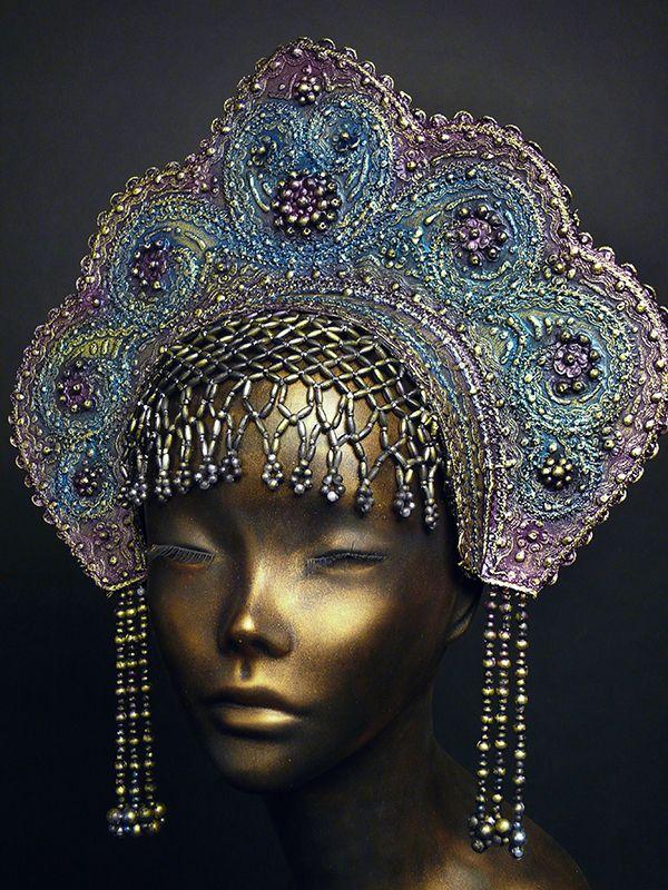 handmade old Russia style headdress KOKOSHNIK (View 2)