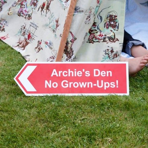 Personalised Children's Directional Sign