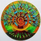"Ručně malovaná vitráž - ""Strom Života"" (kruh 20 cm) Hand Painted Stained Glass"