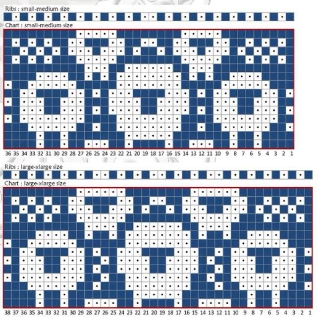 4409 best Charts for Fair Isle, Jacquard, crochet, cross-stitch ...