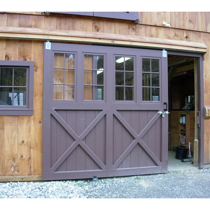 Sliding barn doorn with glass barn depot barn for Sliding glass garage doors