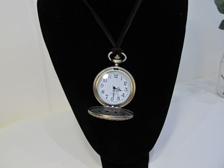 Pocket watch with leather strap!