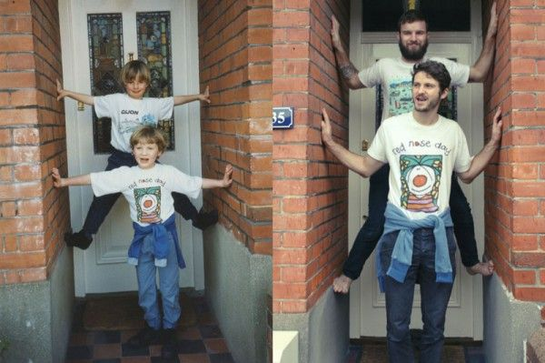 The Luxton brothers recreate their childhood pictures