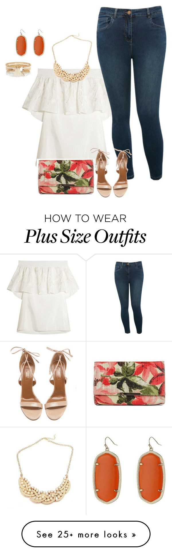 """""""plus size simple and chic summer nights"""" by kristie-payne on Polyvore featuring TIBI, M&Co, Aquazzura, Jessica McClintock, Kendra Scott and River Island"""
