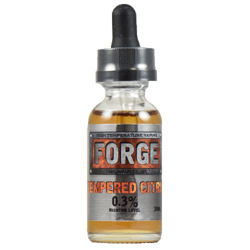 Forge Vapor eLiquids Tempered Citrus - Tempered Citrus is a sweet and smoky orange flavor with almost none of the traditional citrus bite or bitterness. It's surrounded by a tasteful combination of graham cracker and cranberry for a unique all day flavor that defies comparison.90% VG