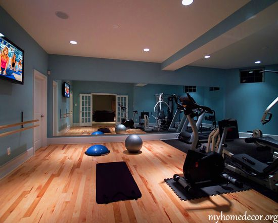 Paint color for home gym pinterest
