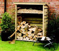 A great way to keep your winter logs dry and tidy. When the cold weather returns and it's time for the wood burner, you'll have seasoned logs that are dry and thoroughly aired. Pressure treated to ensure a long life, the Small Log Store from Rowlinson store has a natural timber finish and is easy assembled from full instructions.