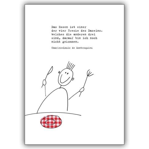 Moderne Einladungskarte Zum Essen Mit Passendem Montesquieu Zitat Einladung Zum Essen Einladungen Einladungskarten