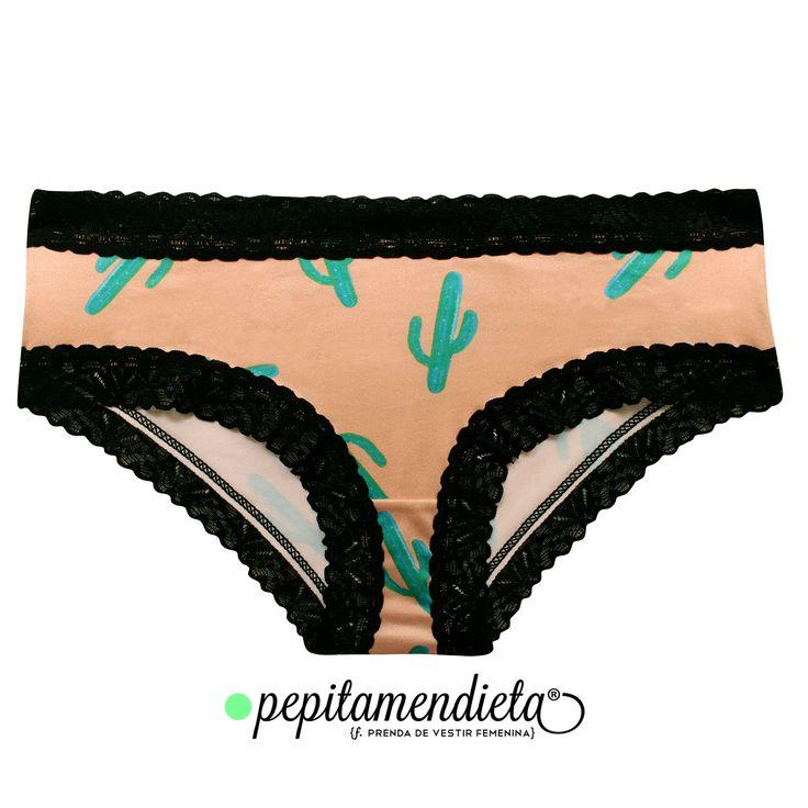 Cactus Print Underwear. By Pepitamendieta. Instagram: PepitamendietaUnderwear