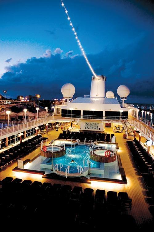 Azamara Journey by sunset - The Pool Area #Cruise