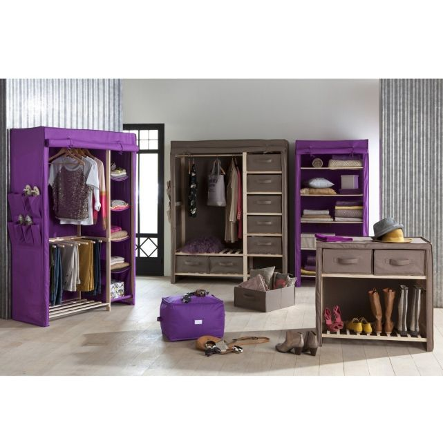 la redoute descriptif armoire de rangement tissu 1 3 ling re 2 3 penderie barre de. Black Bedroom Furniture Sets. Home Design Ideas