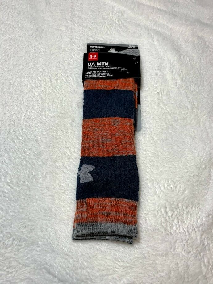 fb1f63f62 UNDER ARMOUR Men's Mountain Cold Gear Orange Socks Over the Calf Size M NEW  #Underarmour #Casual #coldgear #overthecalf #orangesocks #mountainsocks