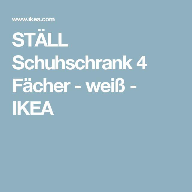 Ikea Faktum Lidingo Kitchen ~ STÄLL Schuhschrank 4 Fächer  weiß  IKEA