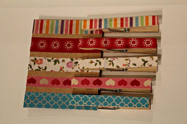 Min blogg om allt mellan himmel och jord: DIY Matcha rätt mönster med tvättklämmor