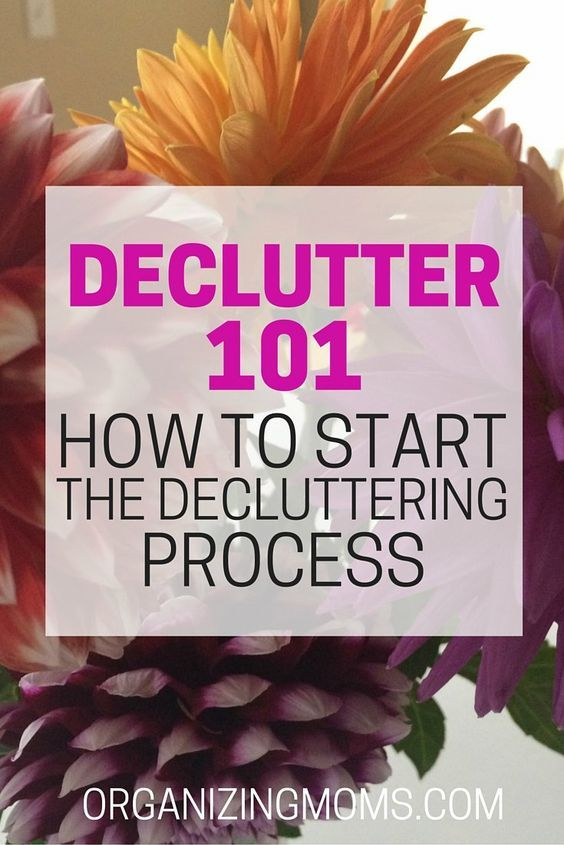 Declutter 101. How to get started, make progress, and not get overwhelmed. Step-by-step instructions for decluttering any space. Don't put it off any more - get started now!