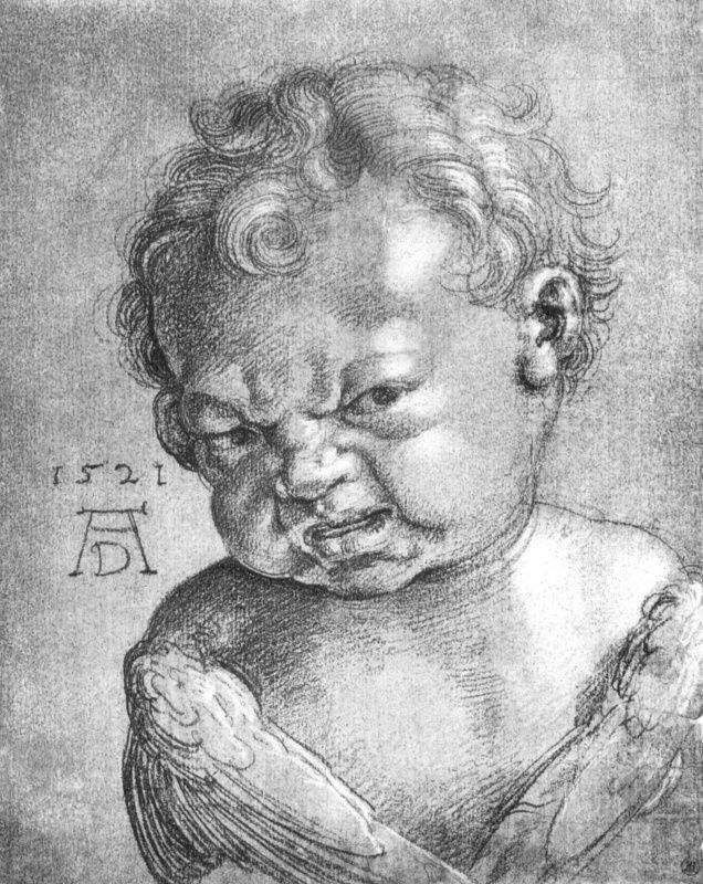 Альбрехт Дюрер Плачущий ангелочек (эскиз) 1521