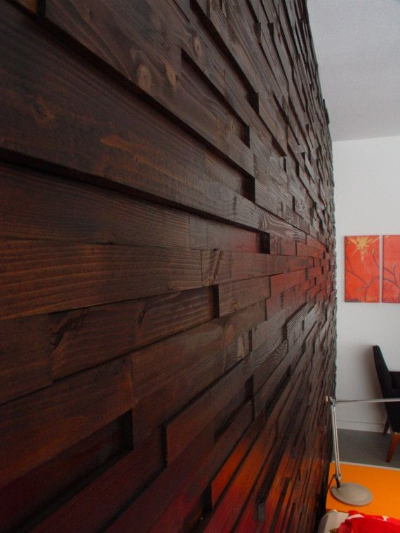I received an overwhelming response to my Scrap Wood Wall on ApartmentTherapy.com and I can now offer the Scrap Wood Wall as a kit. Just tell me how many sq.ft. you need and Ill will provide the stained wood pieces. All you have to do is to hot melt glue the pieces to the wall. I will give you instructions how to get started and achieve a perfect result. The wall in the picture is walnut stained, but let me know if you want other types of stains. Follow this link to ApartmentTheraphy.com…