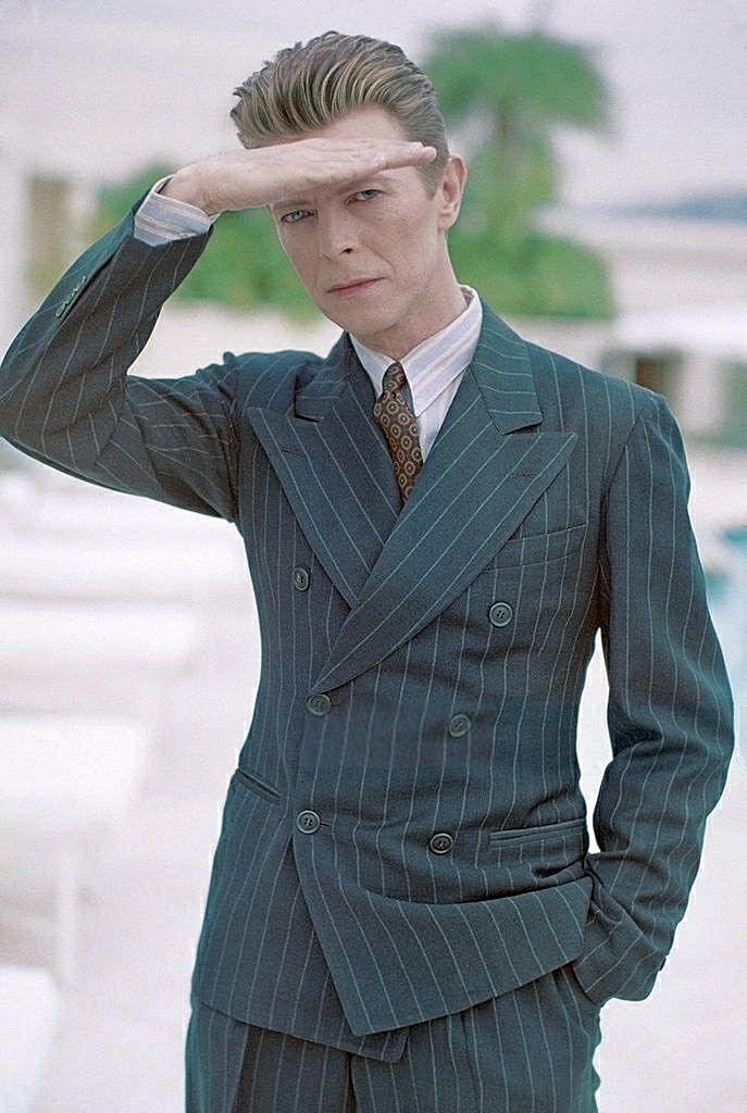 David Bowie photographed by Michel Haddi for Interview magazine, May 1993