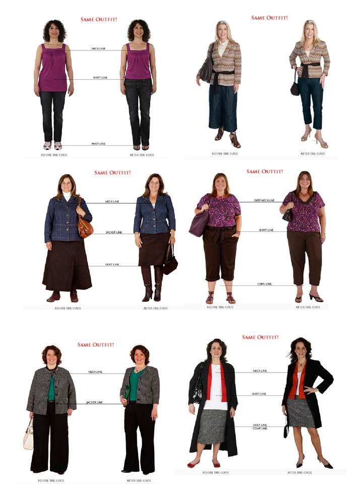 Samples of the Golden Mean . From The Fashion Code people.  I'm definitely dressing wrong.