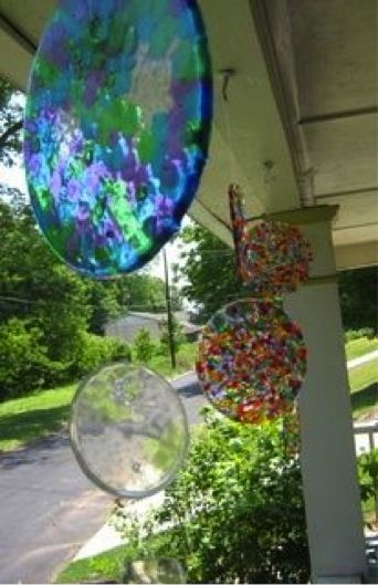How to make melted bead sun catchers & wind chimes ...............Follow DIY Fun Ideas at www.facebook.com/... for tons more great projects!