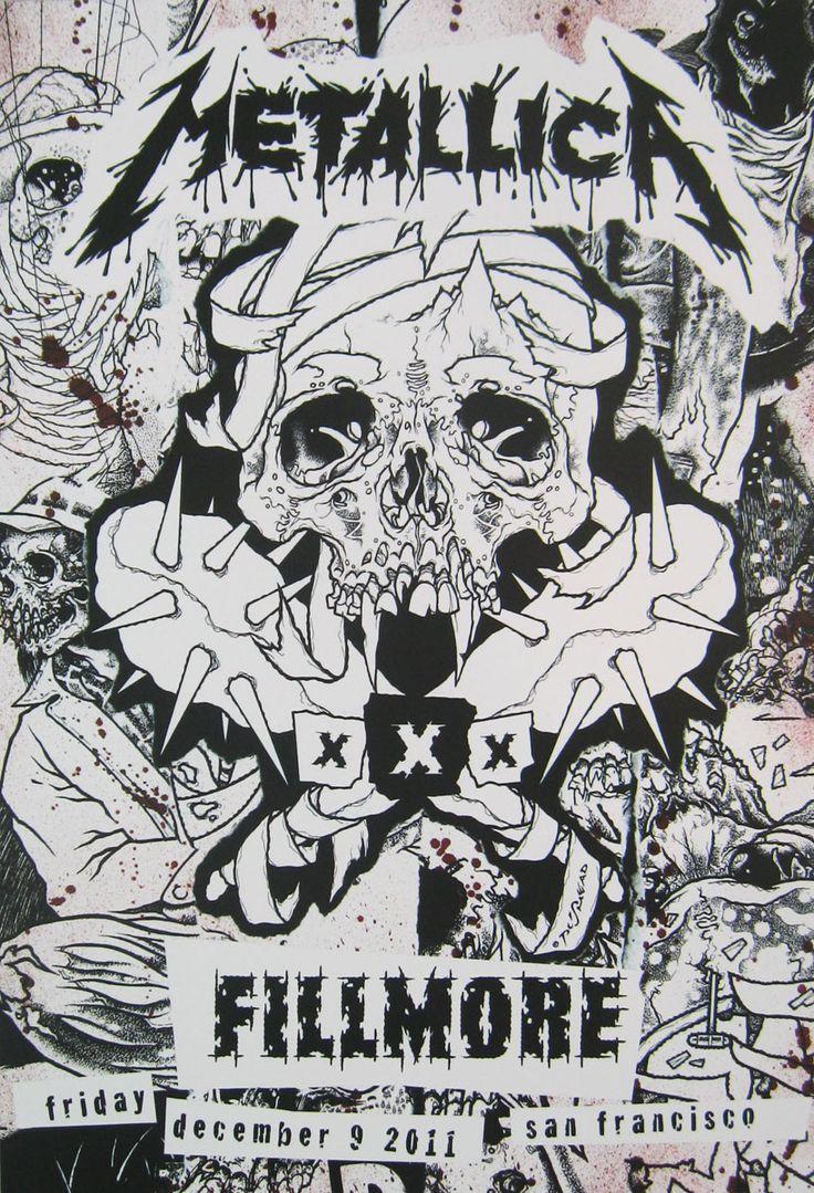Metallica.com   Products   30 Years Fillmore Concert Poster - Dec. 9, 2011