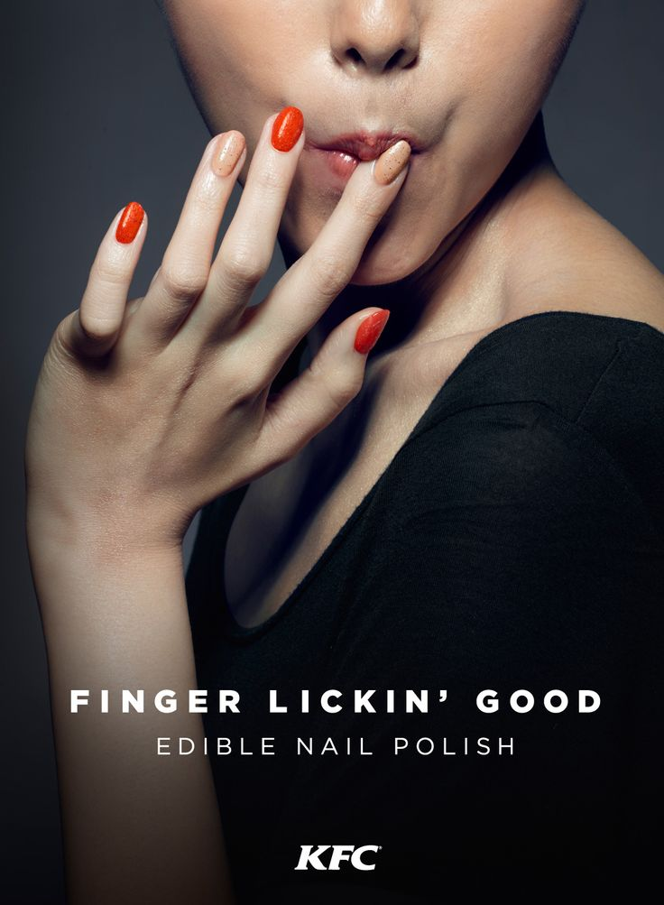 KFC edible nail polishes