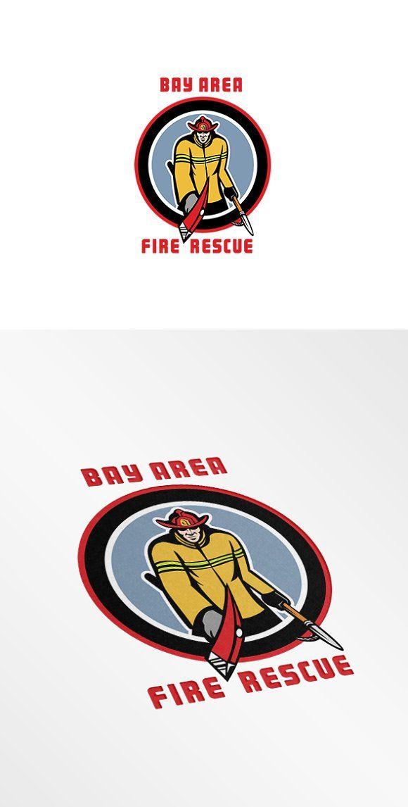 Bay Area Fire Rescue Logo by patrimonio on @creativemarket