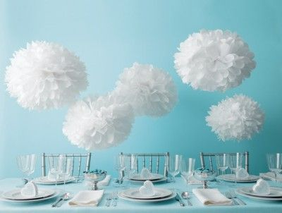 Martha Stewart Pom Pom Kit http://missmouseboutique.co.nz/shop/wedding-decorations/martha-stewart-tissue-paper-pom-pom-kit-white/