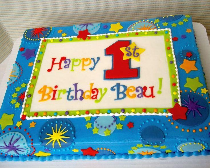 1st birthday Star - by Corrie @ CakesDecor.com - cake decorating website