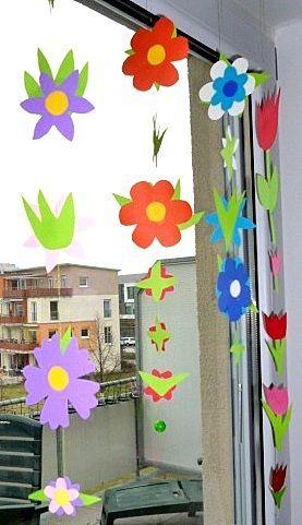 Blumengirlande fürs Fenster – Pflanzen Basteln – …