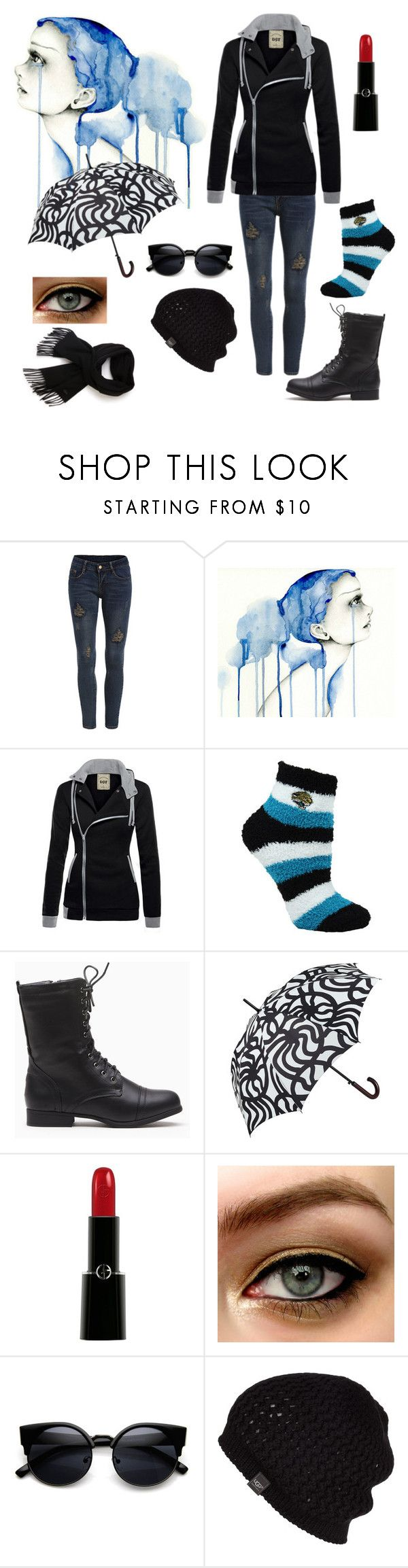 """Rainy day"" by gracelovesanimals ❤ liked on Polyvore featuring For Bare Feet, Marimekko, Giorgio Armani, UGG Australia, Lacoste, women's clothing, women's fashion, women, female and woman"