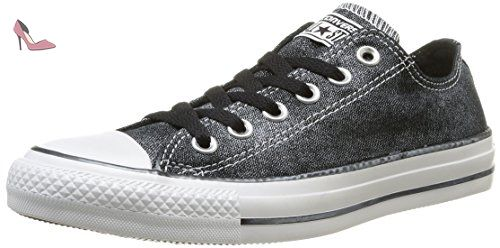 Converse Chuck Taylor All Star Femme Sparkle Wash Ox, Baskets mode femme - Noir (8 Noir), 37 EU - Chaussures converse (*Partner-Link)