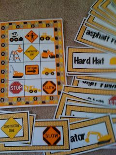Preschool Printables: Construction Machines Large Cards